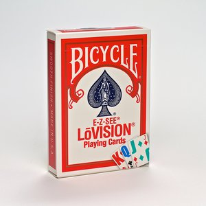 바이시클 로비젼 점보 인덱스덱_레드(Bicycle, Playing Cards, Poker E-Z-See/Lo Vision Jumbo Index-Red)