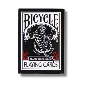 블랙타이거덱-레드 (Bicycle Black Tiger Deck_Red Pip)