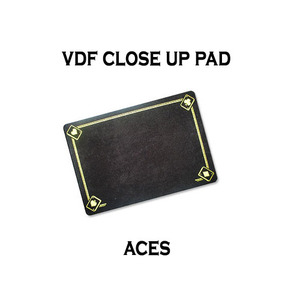 VDF클로즈업패드(ACE그림)-블랙(VDF Close Up Pad with Aces - Standard size - Black)