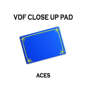 VDF클로즈업패드(ACE그림)-블루(VDF Close Up Pad with Aces - Standard size - Blue)