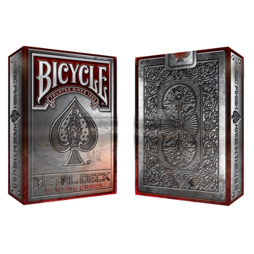 바이시클 메탈 라이더백 레드 (Bicycle Metal Rider Back Red Playing Cards)